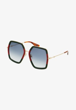 Sunglasses - green/red