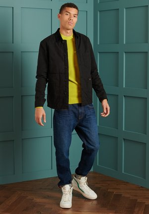 TEXTURED CREW  - Pullover - washed sulphur spring