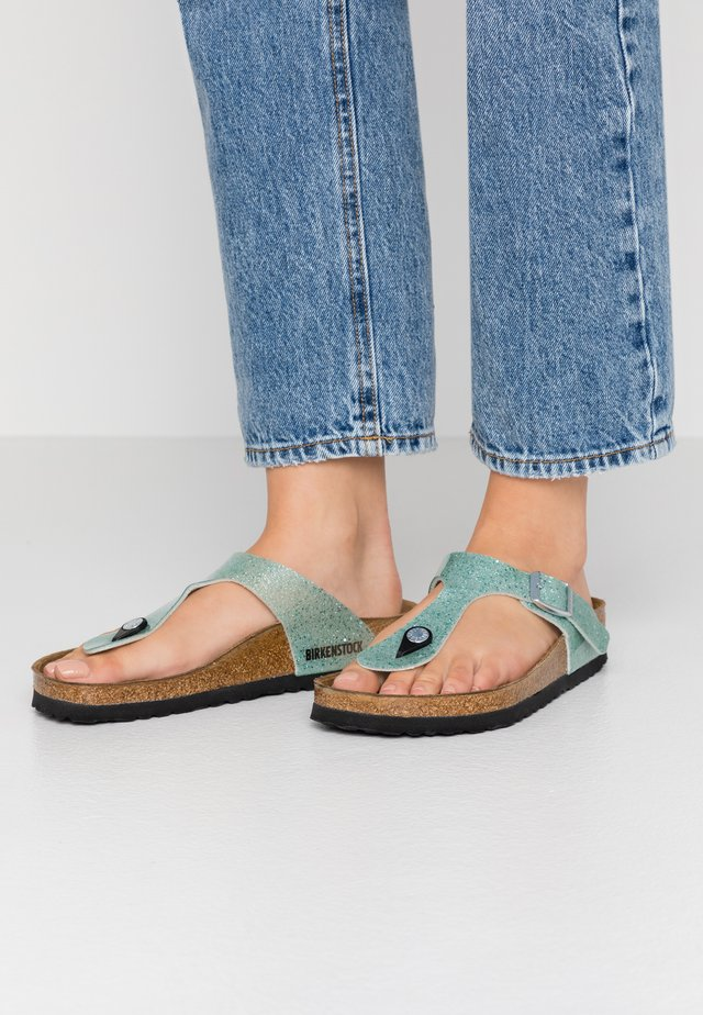 GIZEH - T-bar sandals - cosmic sparkle mineral
