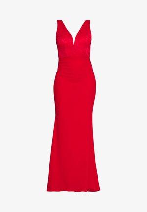 SLEEVLESS VNECK DRESS WITH SIDES - Vestido de fiesta - red