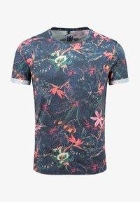 Key Largo - MT JUNGLES - Print T-shirt - dark blue - 0