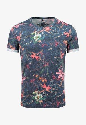 MT JUNGLES - Print T-shirt - dark blue