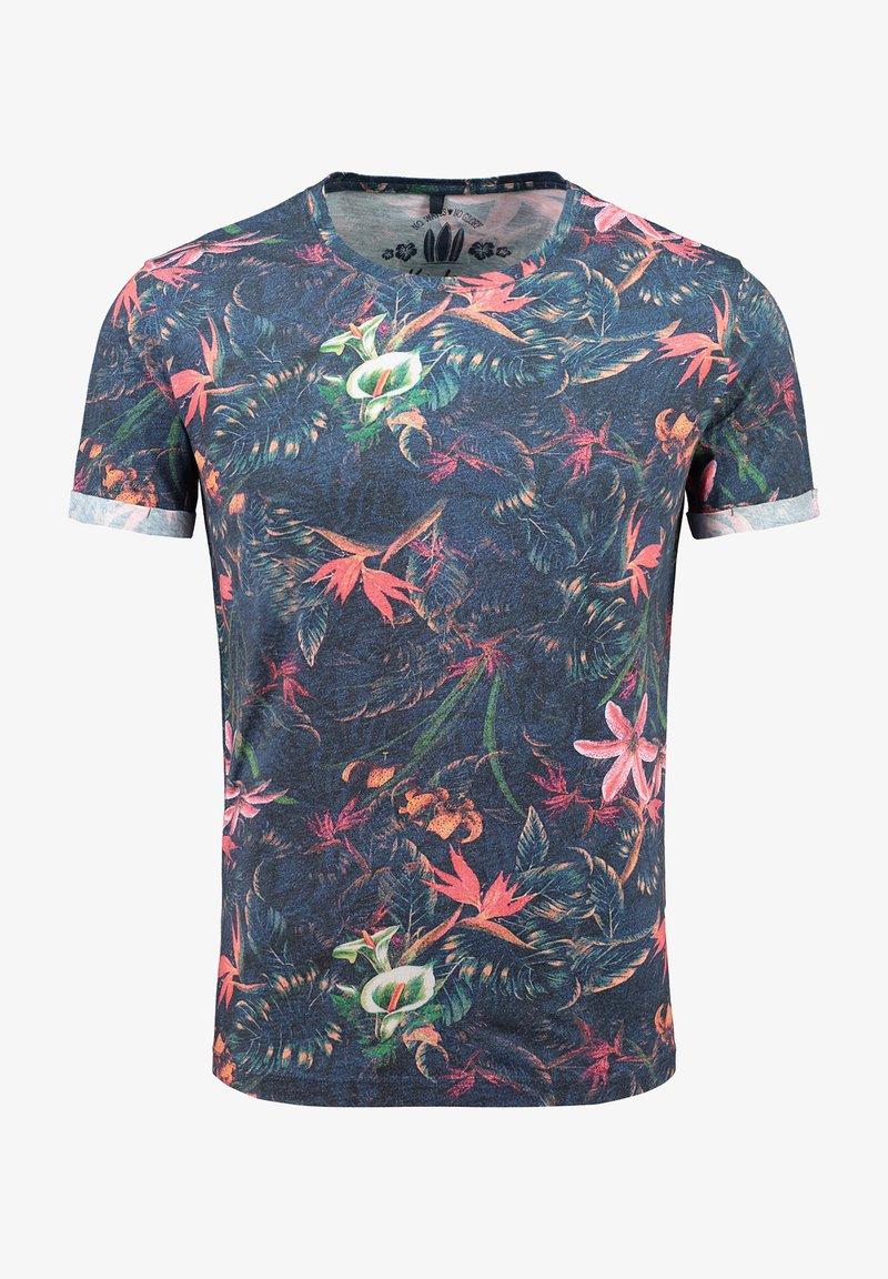 Key Largo - MT JUNGLES - Print T-shirt - dark blue