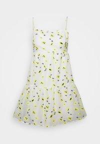 Never Fully Dressed - FLOWER ORGANZA MINI DRESS - Denní šaty - white - 0
