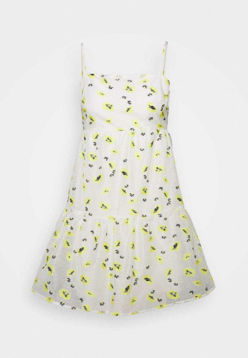Never Fully Dressed - FLOWER ORGANZA MINI DRESS - Denní šaty - white
