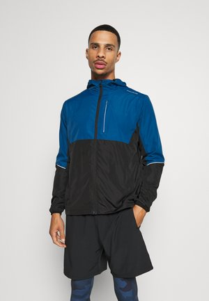 THOROW RUNNING JACKET WITH HOOD - Løperjakke - poseidon