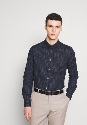 LONG SLEEVEOXFORD PRINT - Overhemd - navy