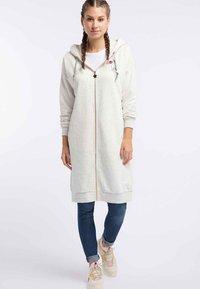 myMo - Zip-up hoodie - wool white - 1