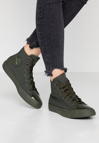 Converse - CHUCK TAYLOR ALL STAR OPI - High-top trainers - thyme/black - 0