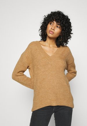 ONLROSE V NECK - Jumper - tan