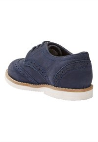 Next - LEATHER BROGUES  - Lace-ups - blue - 3