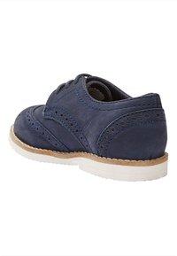 Next - LEATHER BROGUES  - Šněrovací boty - blue - 3