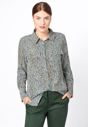 MIT MINI-LEOPARDENPRINT - Button-down blouse - beige
