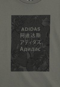 adidas Performance - TEE - Print T-shirt - legend green/black - 3