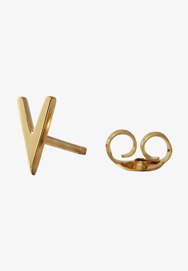 EARRING STUDS ARCHETYPES - V - Boucles d'oreilles - gold