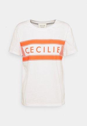 SIMONE - Print T-shirt - white