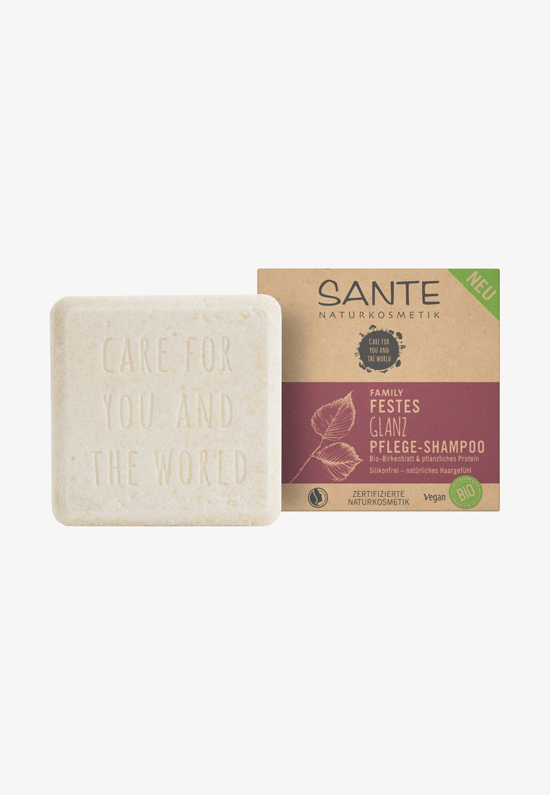 Sante - SHINE SOLID CARE-SHAMPOO ORGANIC BIRCH LEAF & PLANT-BASED PROTEINS - Shampoo - -