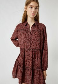 PULL&BEAR - Shirt dress - mottled brown - 3