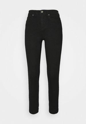 ONLWAUW LIFE MID JOGGER - Jeans Skinny Fit - black denim