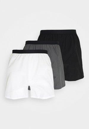 3 PACK - Boxershorts - black/grey/white