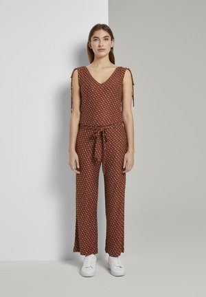 OVERALLS CULOTTE - Jumpsuit - brown geometric design