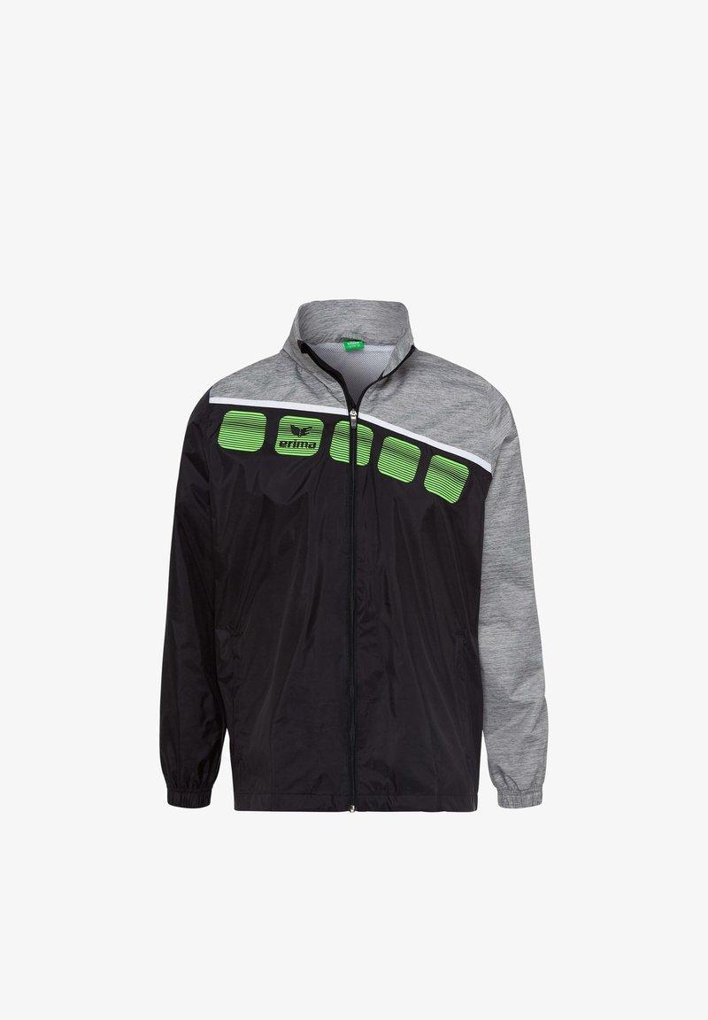 Erima - Regenjacke / wasserabweisende Jacke - schwarz / grau