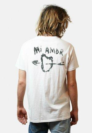 MI AMOR - T-shirt print - white