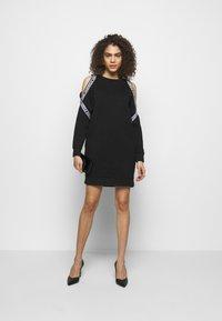 KARL LAGERFELD - COLD SHOULDER DRESS - Denní šaty - black - 1