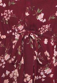 American Eagle - RUFFLE NECK BABYDOLL - Day dress - burgundy - 2