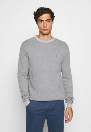 MOULINE STRUCTURE CREW NECK - Pullover - grey