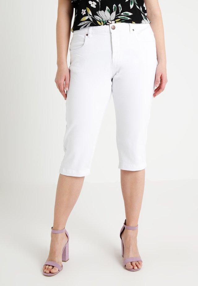 EMILY - Denim shorts - bright white