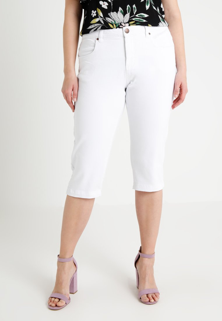 Zizzi - EMILY - Denim shorts - bright white