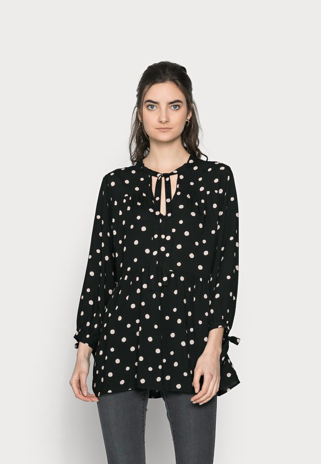 SPOT SMOCK WOVEN - Tunique - black