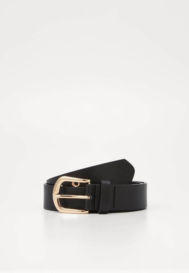 Gina Tricot - ISABELLA BELT - Belt - black/gold-coloured