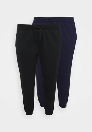 2er PACK - SLIM FIT JOGGERS - Verryttelyhousut - black/blue