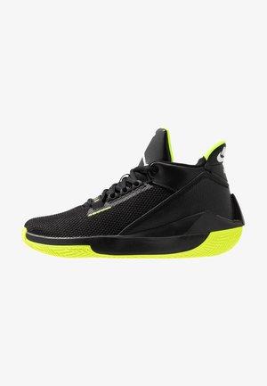 2X3 - Basketball shoes - black/white/volt