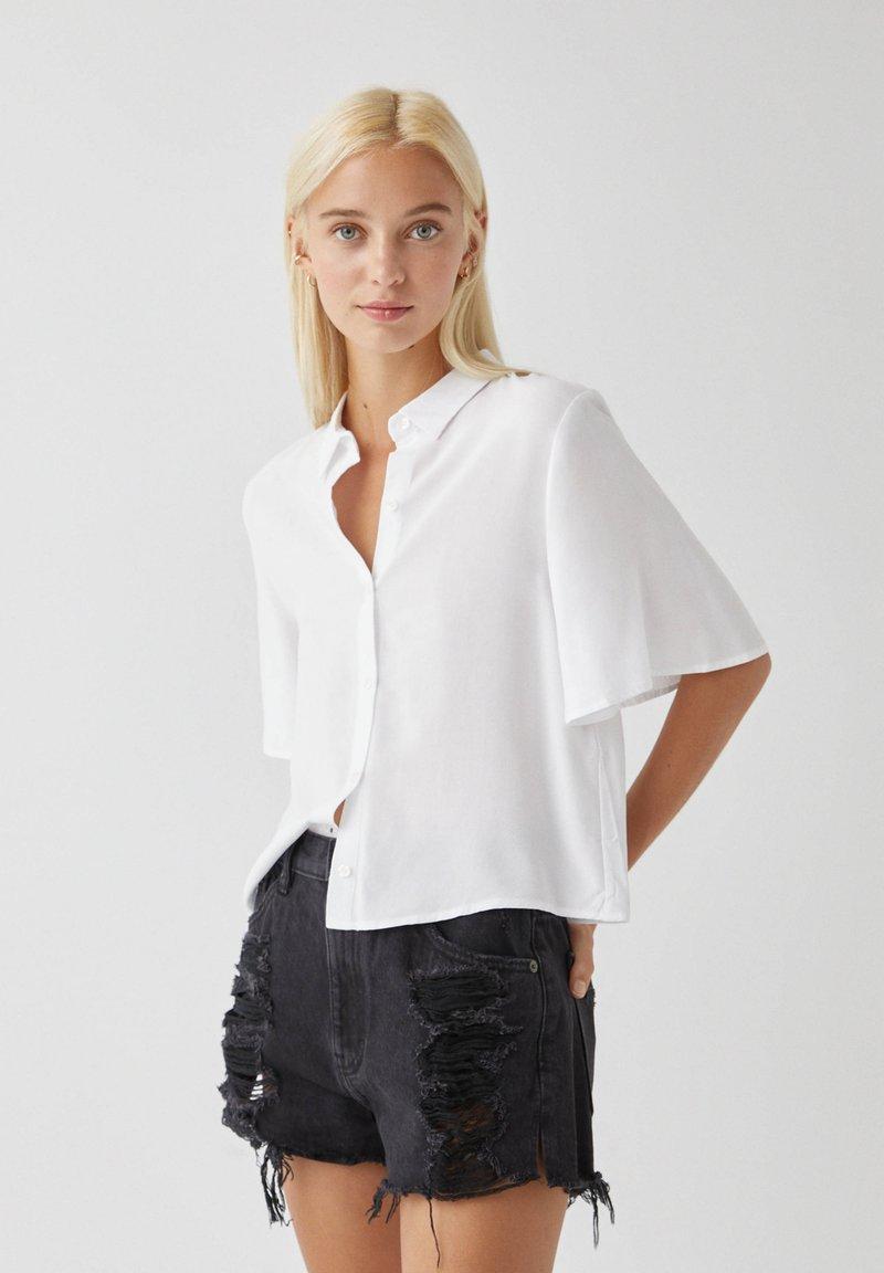 PULL&BEAR - Overhemdblouse - white