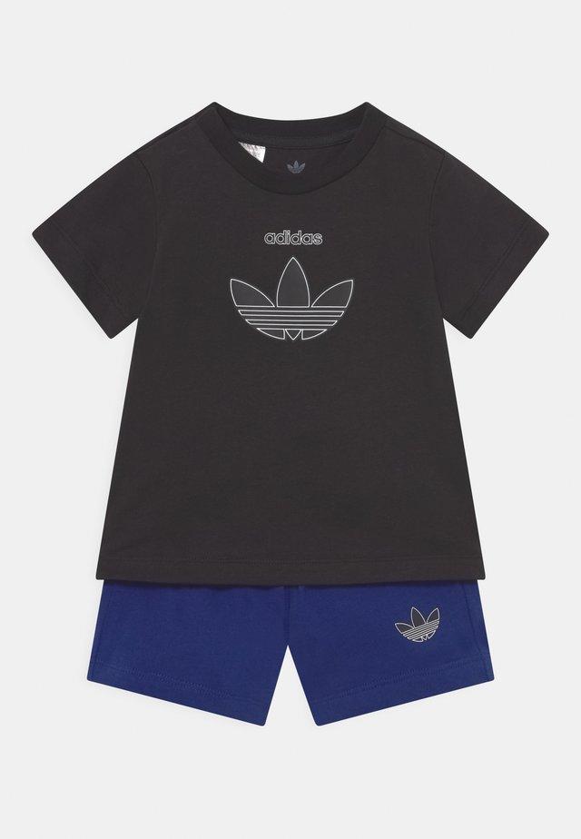 TEE SET UNISEX - Print T-shirt - black/victory blue