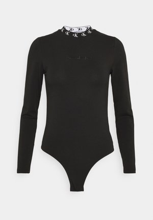 LOGO TRIM - Long sleeved top - ck black