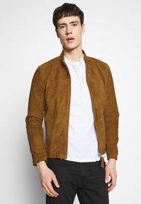 Serge Pariente - SYLVINO - Leather jacket - cognac - 0