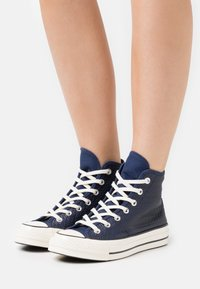 Converse - CHUCK 70 - High-top trainers - midnight navy/sea salt blue/egret - 0