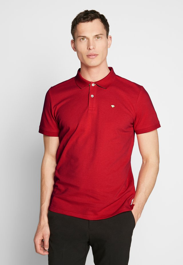 BASIC WITH CONTRAST - Polo - brilliant red
