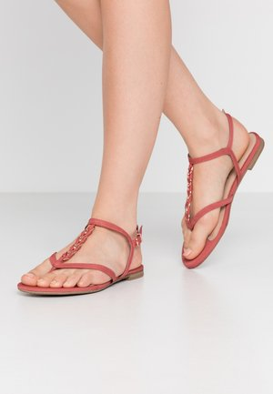 T-bar sandals - pale ruby