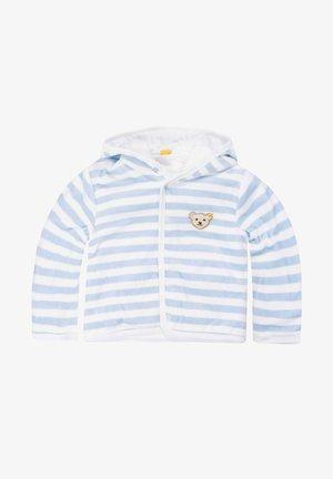 MIT KAPUZE - Fleece jacket - hellblau