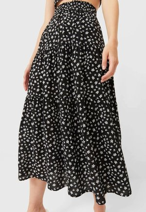 PEASANT - A-line skirt - black