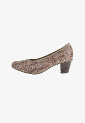 AMANDA - Classic heels - hellbraun