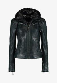 DNR Jackets - Leather jacket - dark green - 0