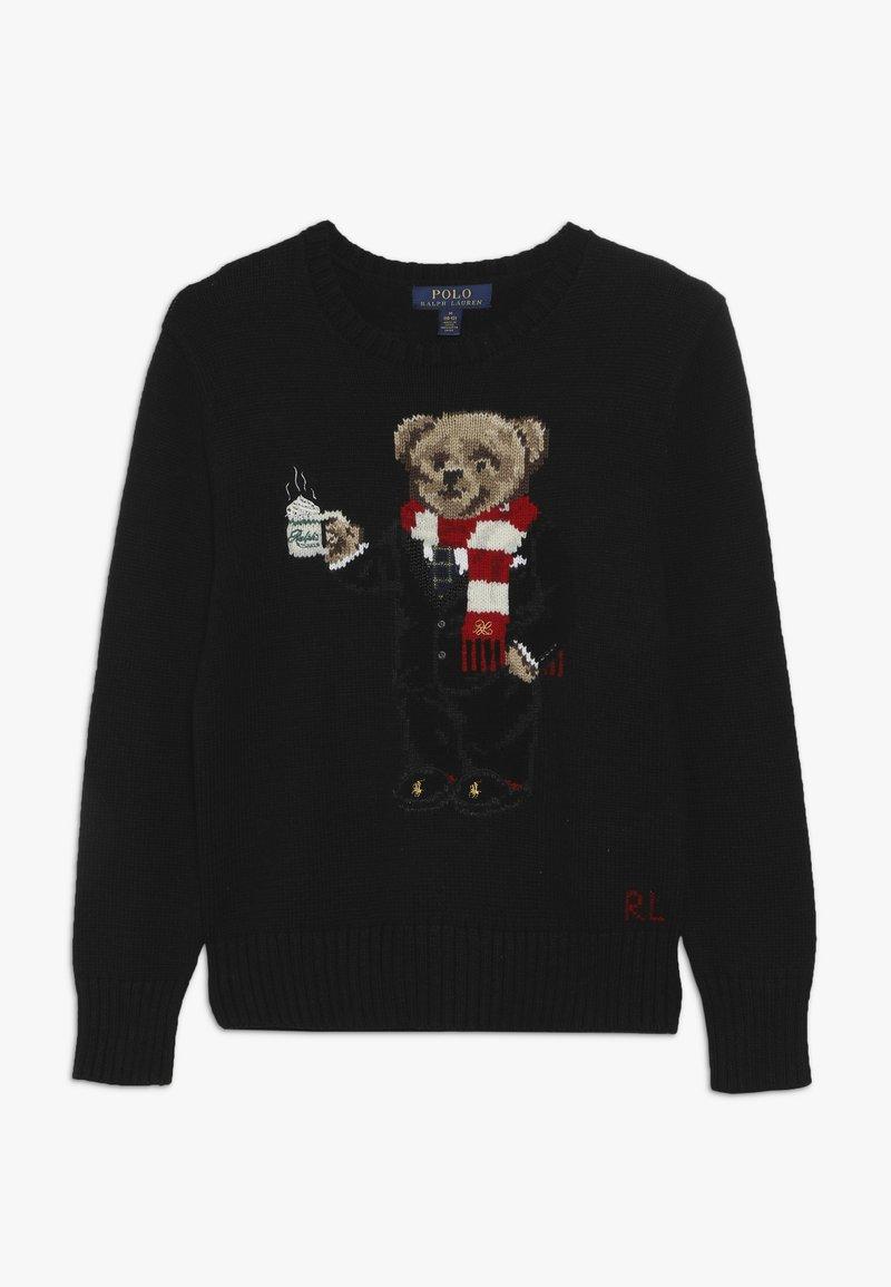 Polo Ralph Lauren - BEAR TOPS - Strickpullover - polo black