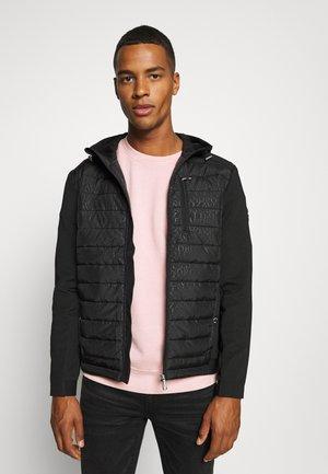 SEVINIO HOODIE - Zip-up hoodie - black