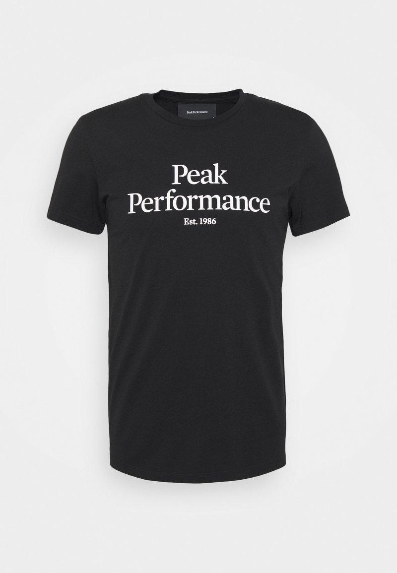 Peak Performance - ORIGINAL TEE - Print T-shirt - black